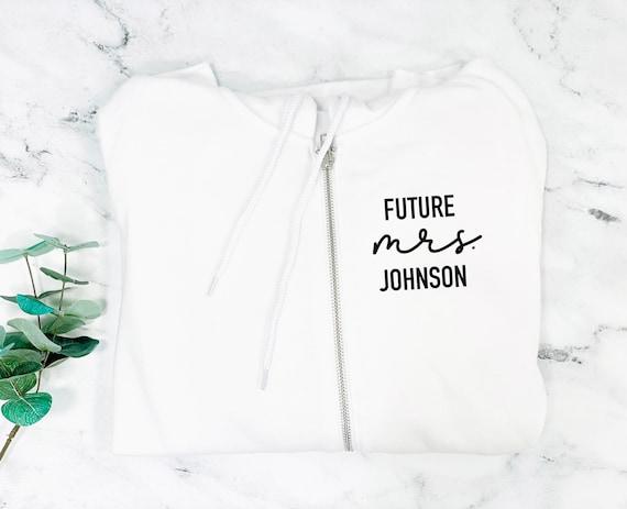 future mrs sweatshirt, engagement gift, future mrs, custom bridal gift, personalized gift for bride, bride to be gift, new mrs sweatshirt