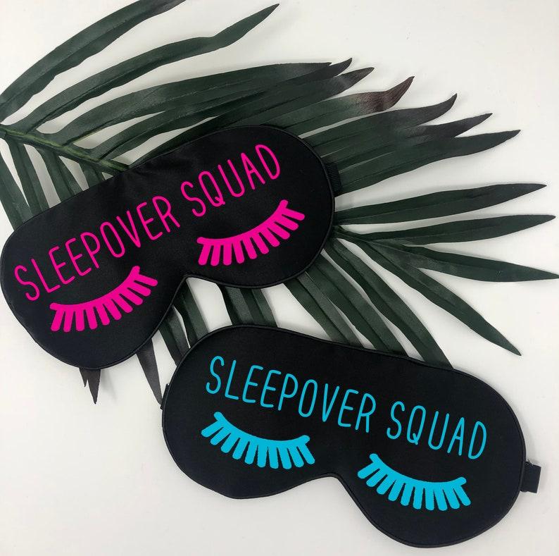 slumber party sleep mask name sleep mask eyelash sleep mask sleepover sleep masks sleepover squad eye mask slumber party sleep mask