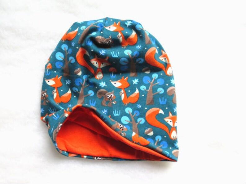 Baby SIZE * Newborn Fox beanie Jersey fox hat Baby beanie Jersey hat