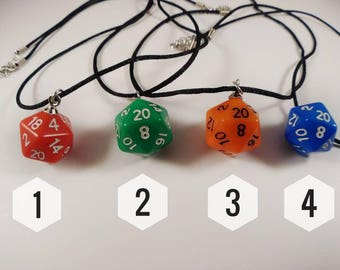D20 Dice Gaming Necklace