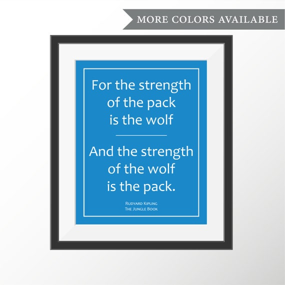 jungle book wolf pack quote