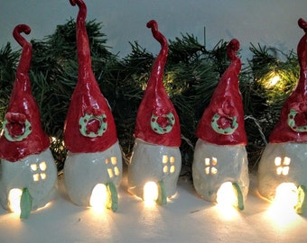Curly Top Christmas Village