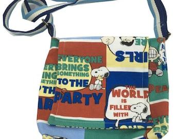 Handmade Snoopy Canvas Sling Bag