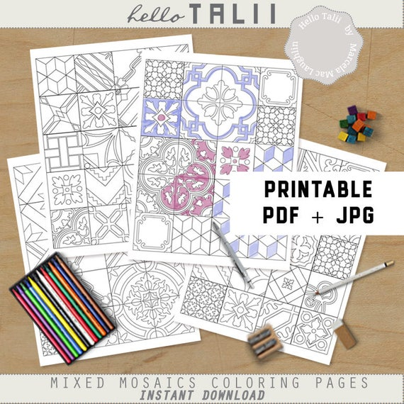 Free Free Mosaic Coloring Pages Printables, Download Free Clip Art ... | 570x570
