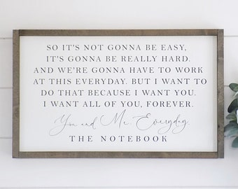 The Notebook Quote Etsy