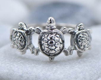 Sterling Silver Three little Turtle