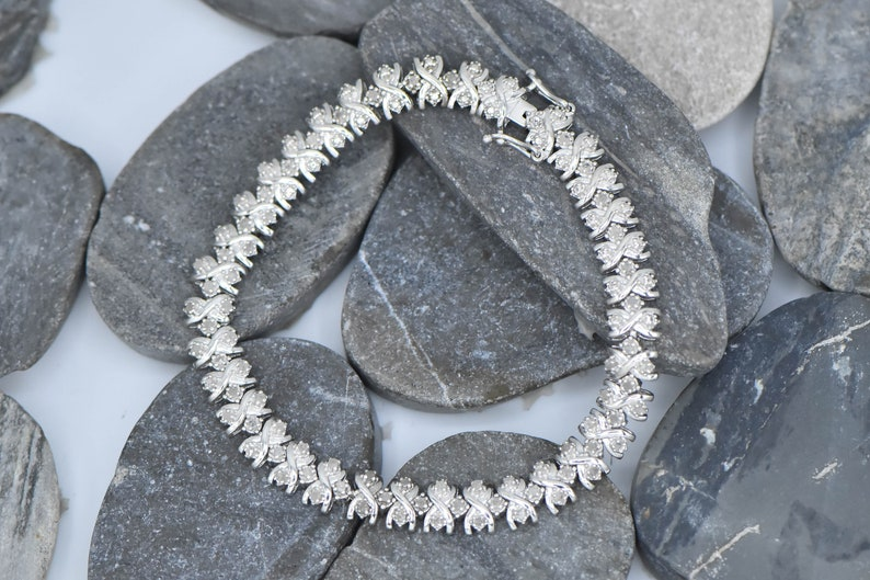 Sterling Silver Silver Diamond Bracelet