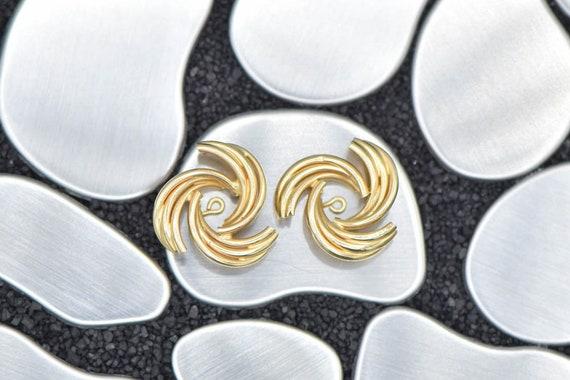 14k Gold Spiral Earring Jackets