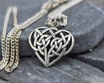 Sterling Silver Celtic Heart Necklace