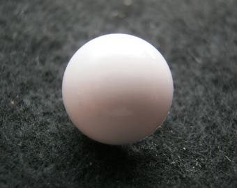 13 pieces of white blouse buttons with eyelet, half ball, diameter approx. 13 mm, new, Button manufactory