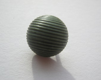 22 piece blouse buttons with eyelet, half ball green, diameter approx. 12 mm, new, Button manufactory