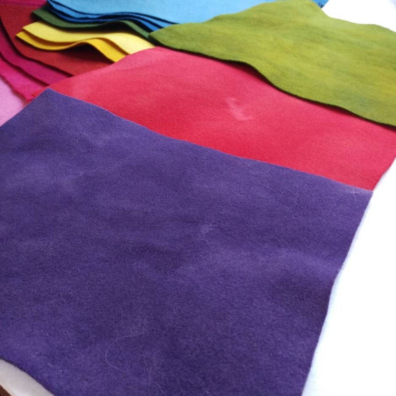 felted wool fabric All-Naturally Dyed 100/% wool felt sheets yardage over 30 shades