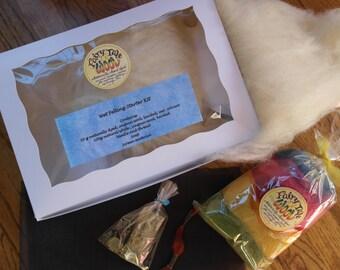 Felting Starter Kits with Merino, Alpaca or Romney wool
