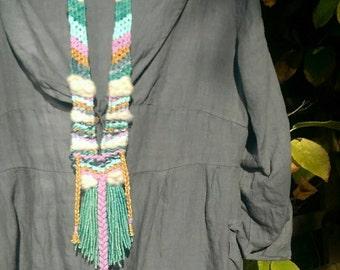 Woven necklace 'Azur'
