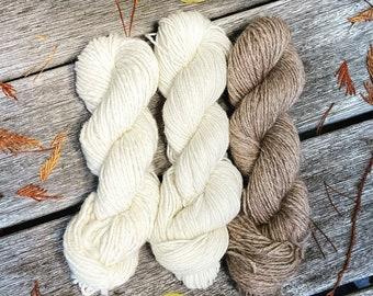 Natural alpaca and llama yarn in 2 weights, llama yarn, local yarn, natural alpaca yarn, BC alpaca yarn, mill-spun alpaca and llama yarn