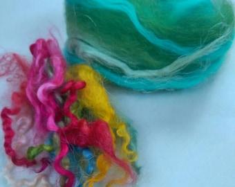 Naturally dyed Lock Spinning Set 'Summer Meadows' (Phatfibre)