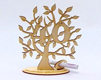 Baum Glueckwuensche Etsy