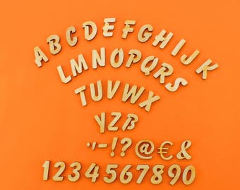small wooden letters 21 mm balloon blank to do handicrafts 0 82inch of wood for name plates