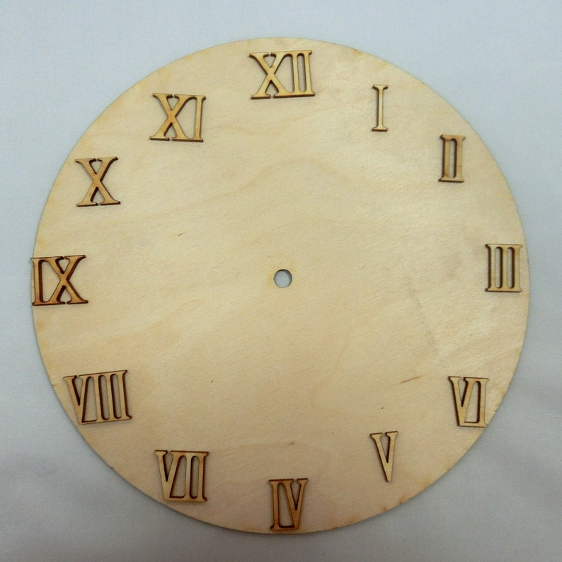 Wooden roman numerals / numerics 19 mm high for ...