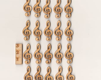 Sheet music wrench 3 cm 20 pieces of wood table decoration
