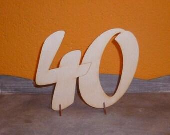 Birthdaynumber 20, 30, 40 .... DIY table decoration for birthday