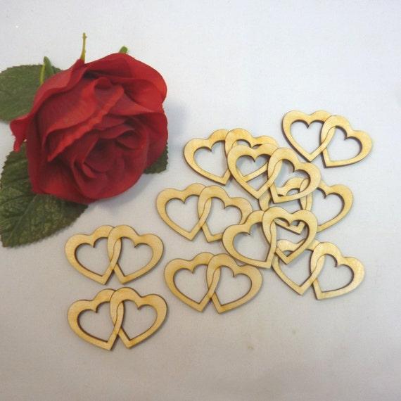 60 unidades streudeko corazón boda centro de mesa nombre deseado decoración fiesta de madera
