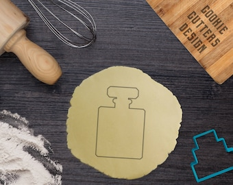 French Perfume bottle cookie cutter