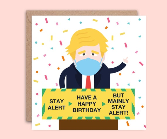 Birthday Card For Isolation Or Quarantine Funny Boris Johnson Etsy