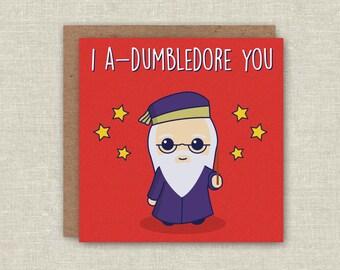 Birthday Card Funny Birthday Card Cute Card Funny Birthday Card Adumbledore You Greeting Card Anniversary Card Harry Potter Card