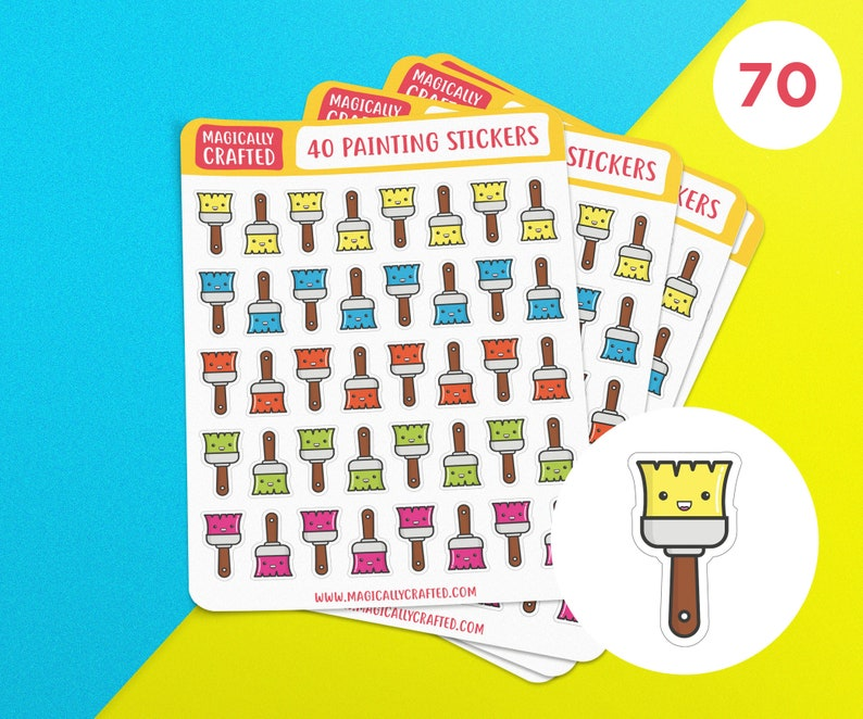 Painting Planner Stickers Decorating Stickers Planning 1 Sticker Sheet