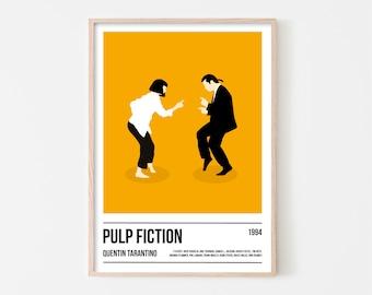 Pulp Fiction Poster Art Print, Tarantino Poster Print, Movie Print, Film Wall Art, Boyfriend Christmas Gift, Christmas Present for Boyfriend