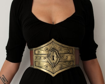 available in PLUS SIZE FIDAH not real metal! alternative Accessory gift for fantasy clothing or for a unique wedding Celtic waist belt