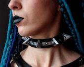 metal punk choker necklac...