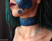 Choker - dragon leather -...