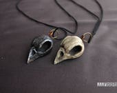 Necklace with bird skull ...