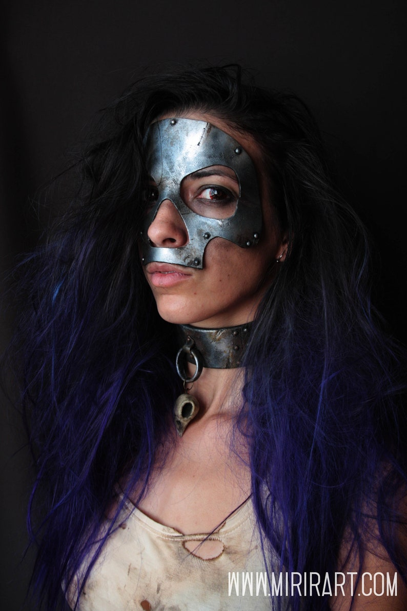 post apocalyptic full face skull mask fake metal it/'s EVA foam costume for halloweencarnivalcosplaylarpmad maxwasteland Fake metal