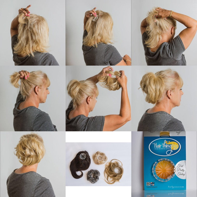 Hair Accessory Wear A Hairpiece Secure And Fast Easy Way To Etsy