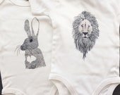 Baby bodysuit rabbit / Ro...
