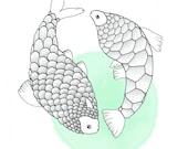 Pisces zodiac sign / viss...