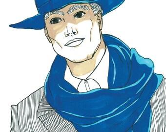 SALE // Blue man
