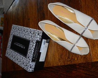 Vintage Marinelli cream open-toed evening shoes
