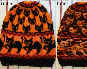 170f5896b4b Knitted Witch Cats Hat