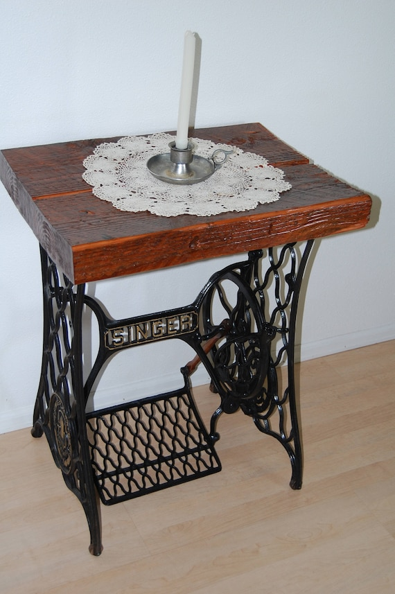 Vintage Antique 40 Singer Treadle Sewing Machine Base End Etsy Mesmerizing Pedal Sewing Machine Table