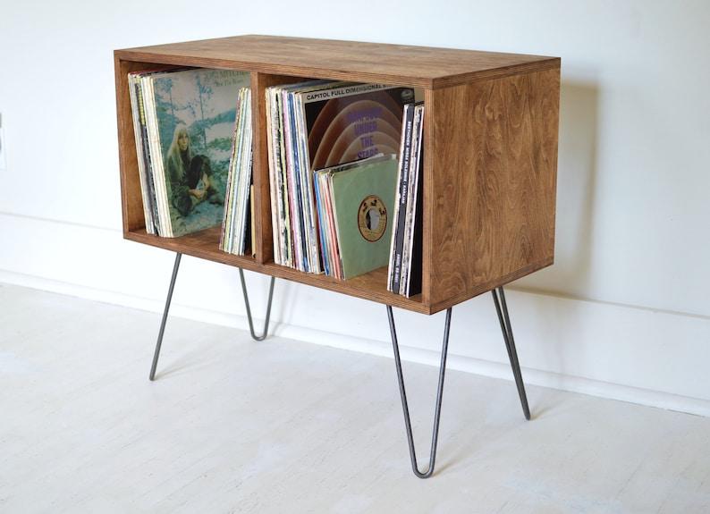 Mid-Century Modern Cabinet  Bookcase  Vinyl Album Storage  image 0