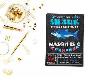 Cute zip line invitationzip line party zipline birthday shark birthday party invitation3shark birthday invite shark party invitations shark birthday invitations shark birthday party stopboris Gallery