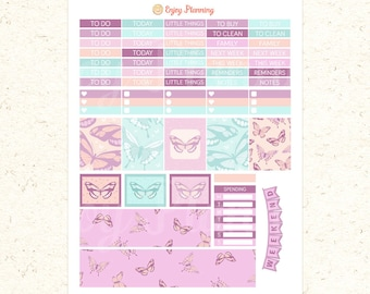 Butterfly Printable Planner Stickers Butterfly planner Stickers Floral Stickers Butterfly stickers Erin Condren Life Planner stickers set