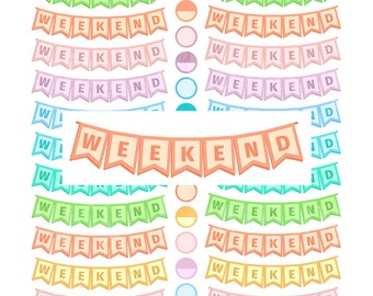 Printable Weekend Planner Stickers Printable Weekend Stickers Weekend Banner Planner Stickers Weekend Banner Stickers Weekend Erin Condren