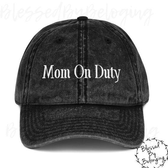 47f58ec0413 Mom On Duty Trucker Hat Women Mom Hat Baseball Hat Women