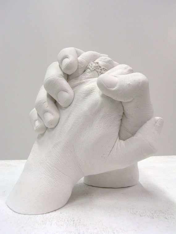 Wedding gift, hand casting, Handprint, impression, gift for the bridal  couple, plaster cast, Handbformung, Handprint, wedding gift