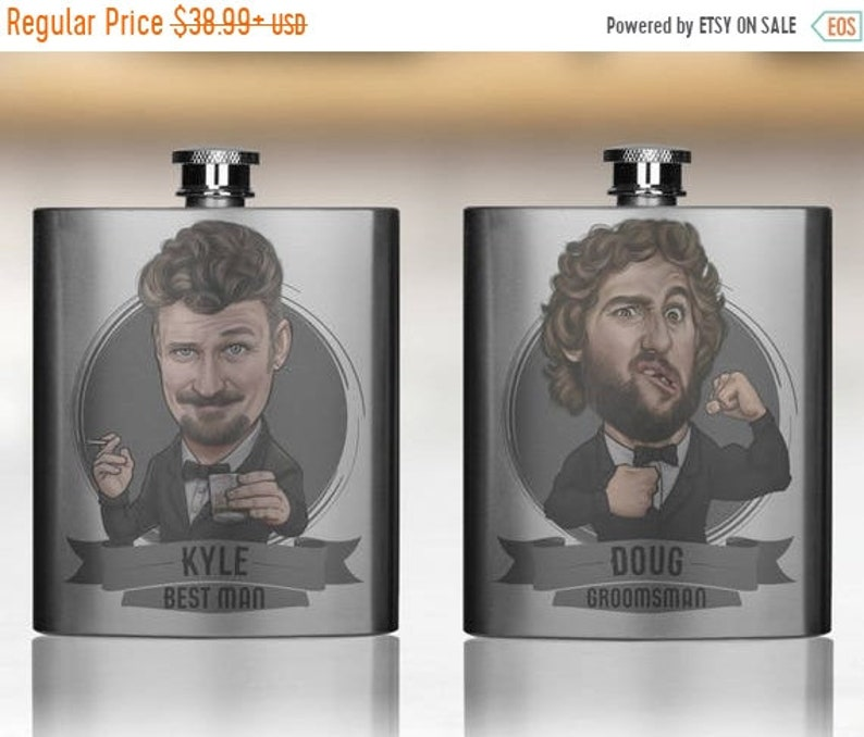 Sale 30% Groomsmen Gift Groomsmen Flasks Groomsmen Gifts image 1